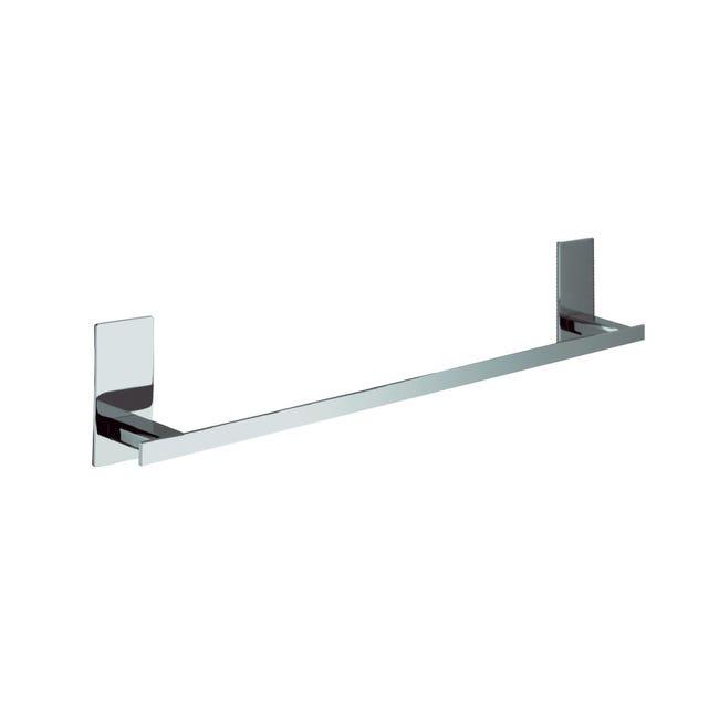 Porta salviette fisso a muro 1 barra Flat cromo lucido L 30 cm - 1