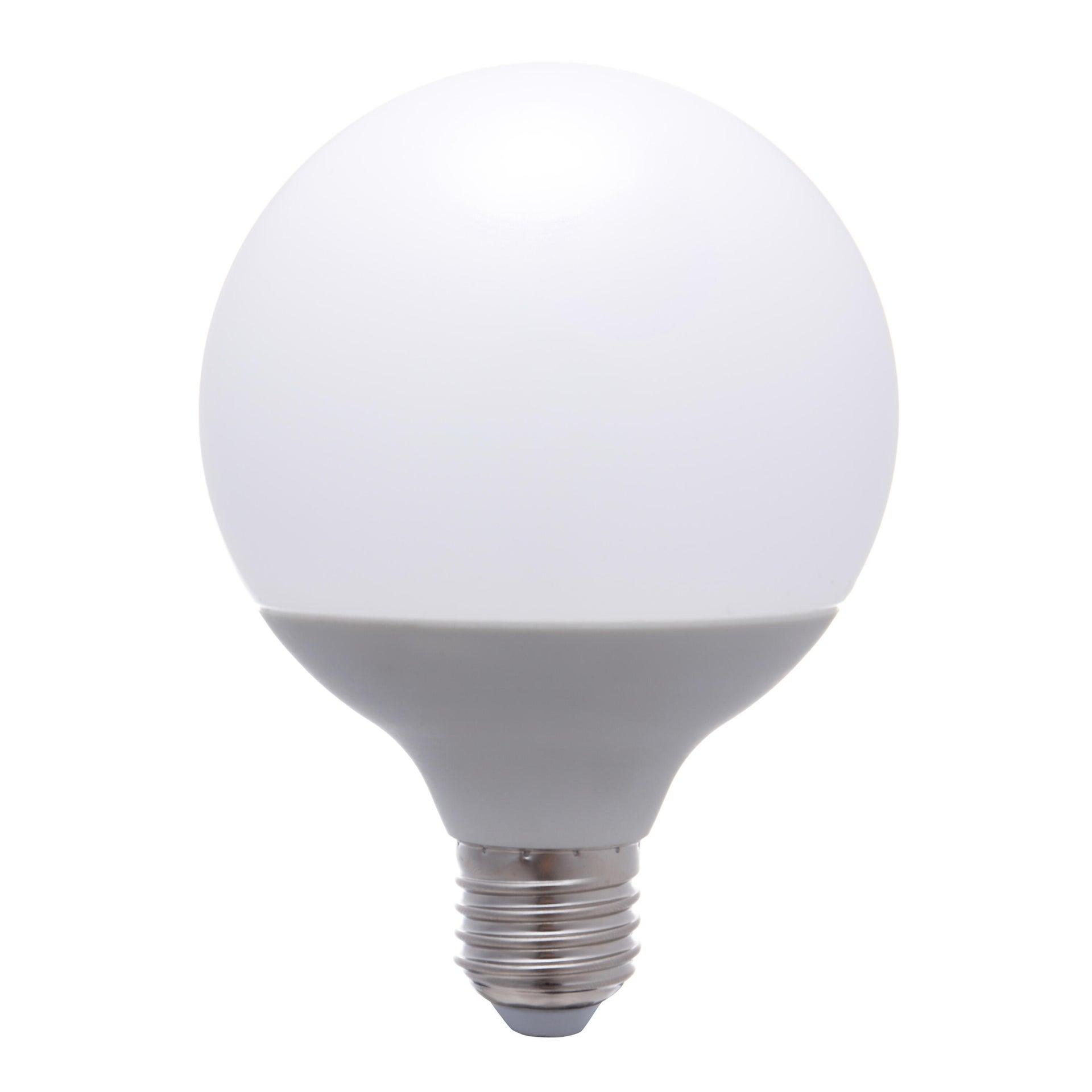 Lampadina LED, E27, Globo, Opaco, Luce calda, 12W=1100LM (equiv 75 W), 240° , LEXMAN - 5