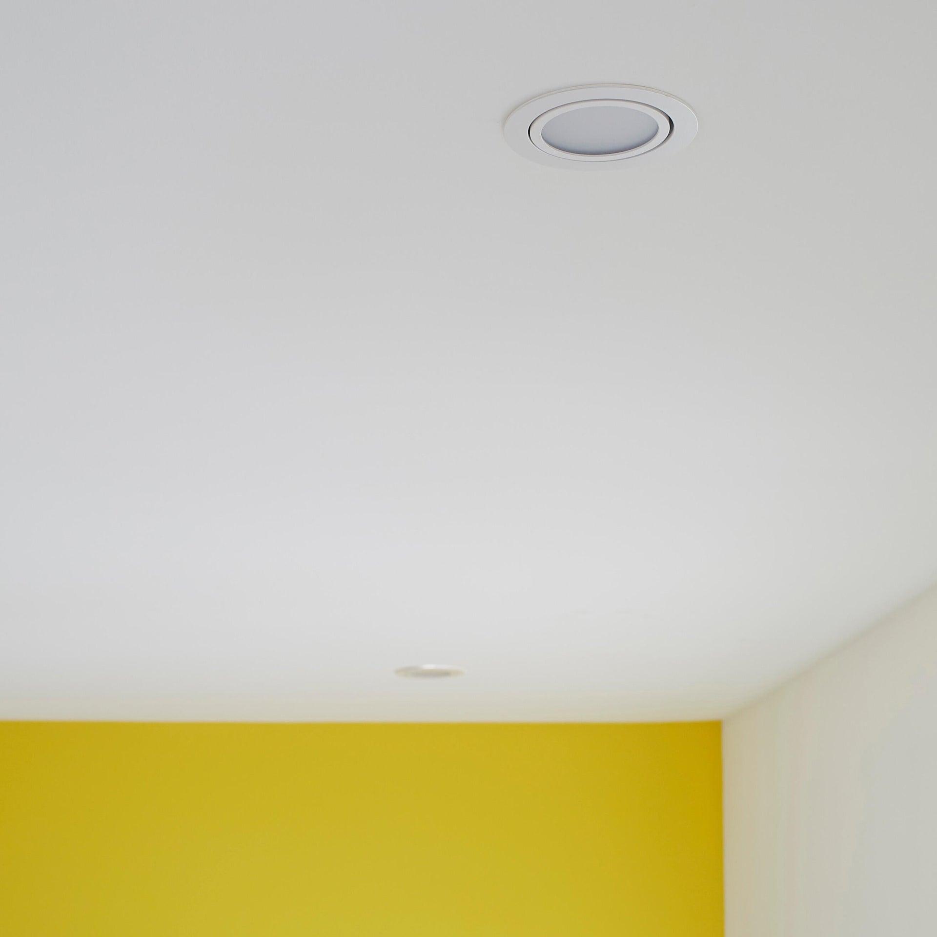 Faretto orientabile da incasso tondo Lindi in Alluminio bianco, diam. 9 cm LED integrato 500LM IP65 INSPIRE - 7
