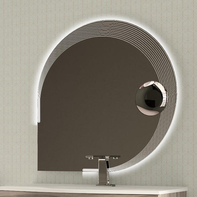 Specchio Con Illuminazione Integrata Bagno Ovale Bellagio L 90 X H 90 Cm Baden Haus Leroy Merlin