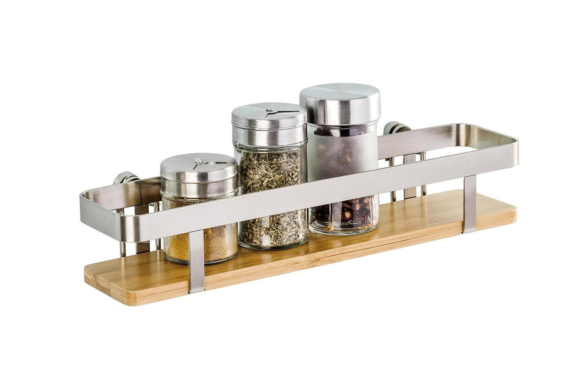 Ripiano per le spezie adesivo argento e marrone P 70 cm x L 300 x H 55 mm - 4