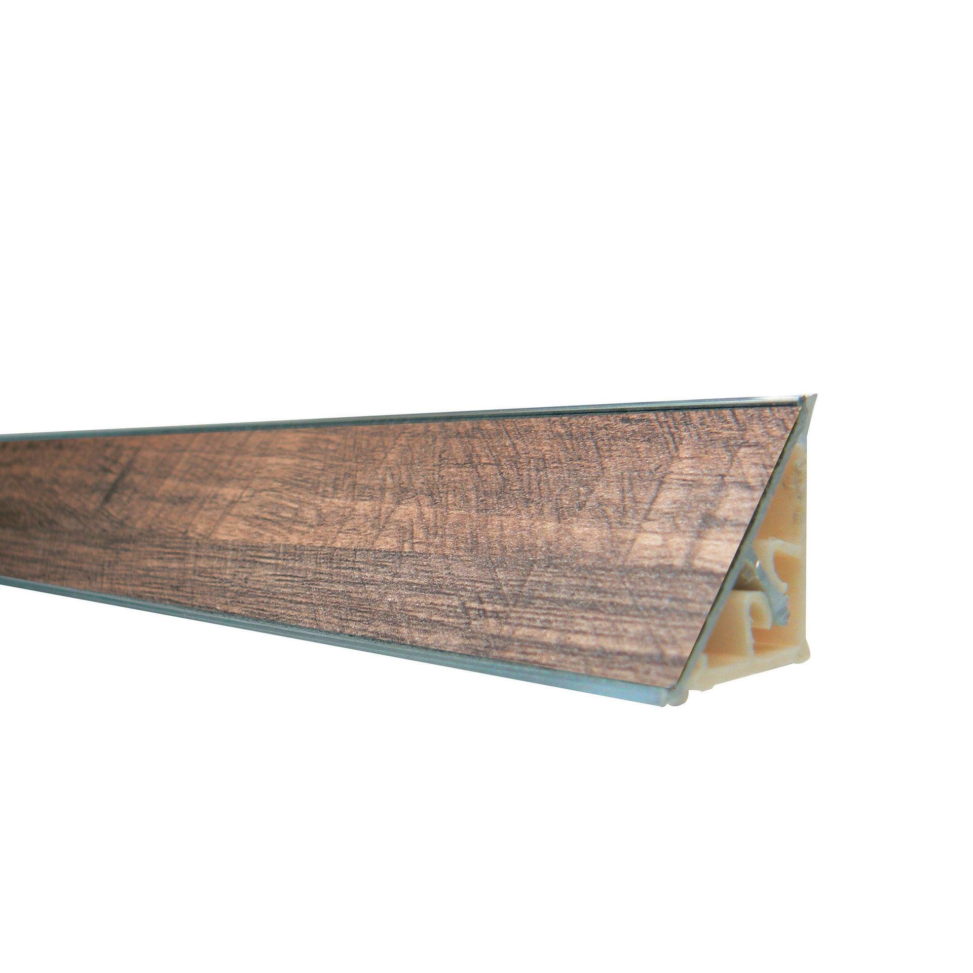 Alzatina alluminio noce L 300 x Sp 2.7 cm