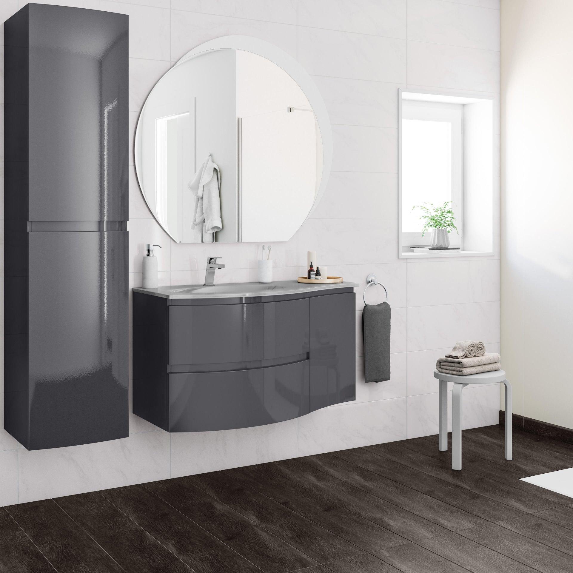 Mobile bagno Vague antracite L 104 cm - 1