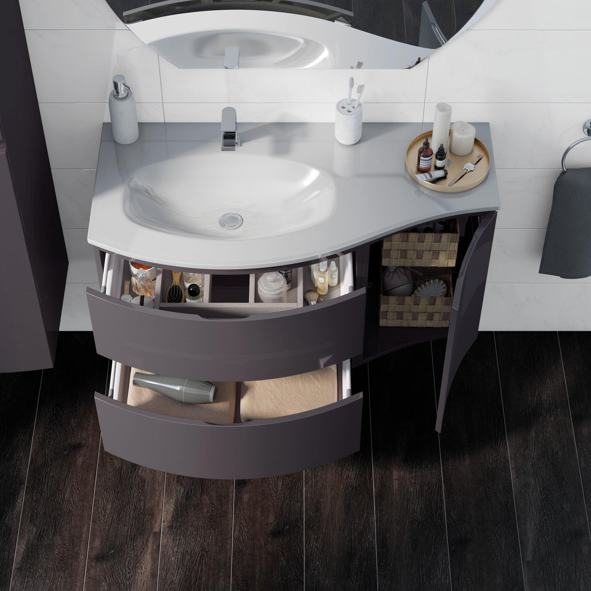 Mobile bagno Vague antracite L 104 cm - 2