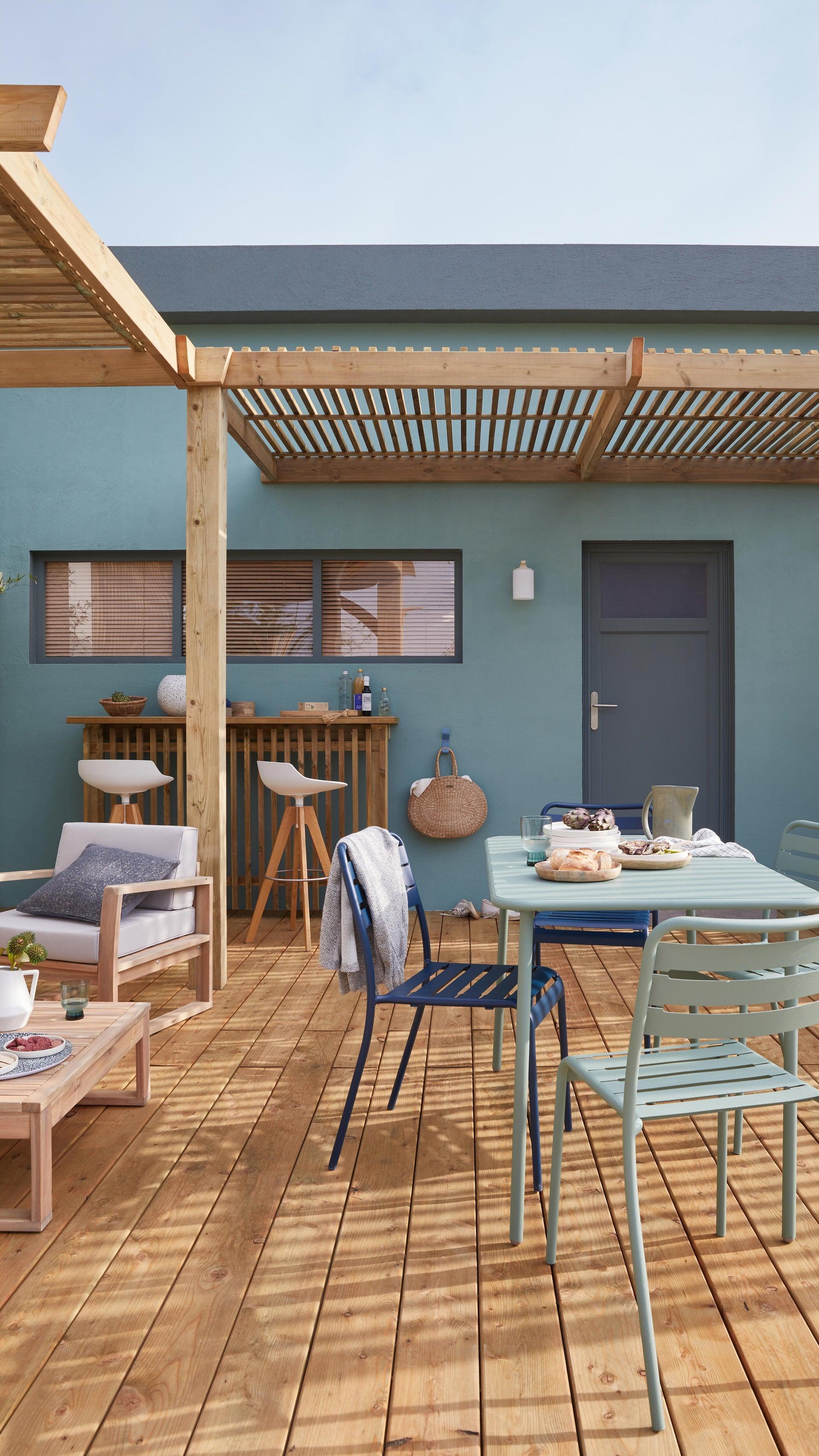 Tavolo da giardino rettangolare Cafe con piano in metallo L 70 x P 120 cm - 5